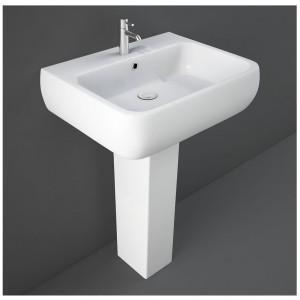 Lavabo con Colonna 60cm Rak Ceramiche serie Metropolitan Bianco