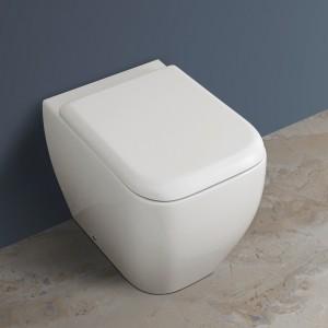 Vaso a Pavimento Filomuro Rak Ceramiche serie Metropolitan Bianco