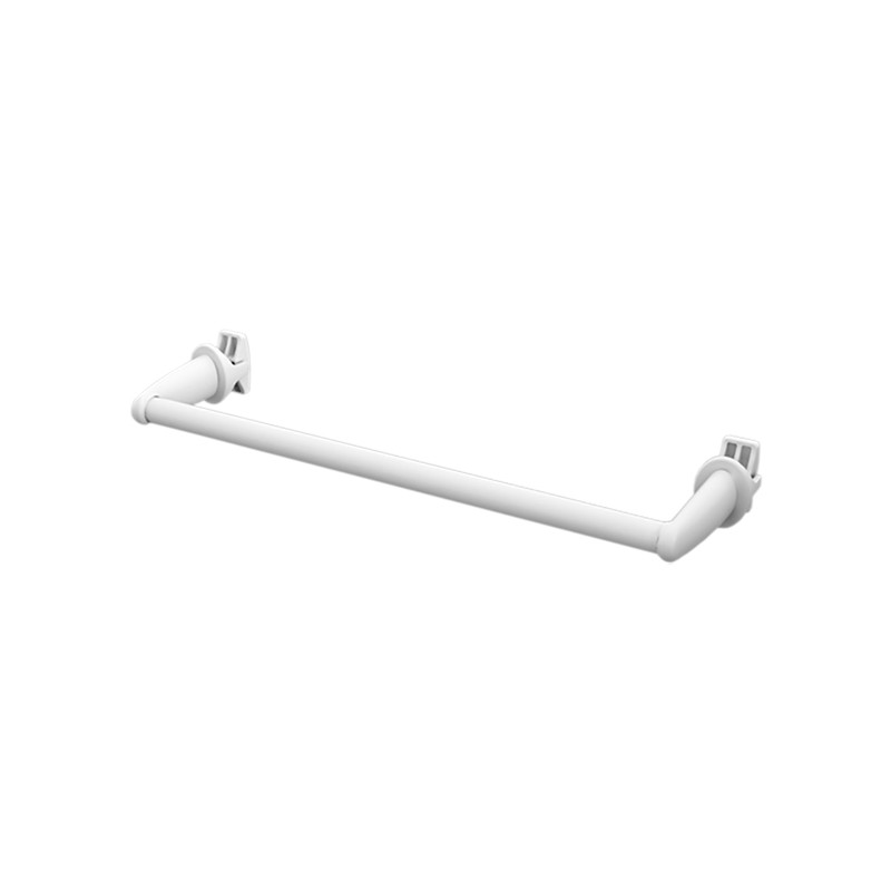 Portasciugamani Bianco 36cm Serie Smart per Scaldasalviette e Termoarredo Bianco