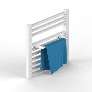 porta asciugamani bianco per scaldasalviette