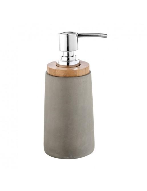 Dispenser Sapone da appoggio Cipi serie New Cement Grigio in Resina/Cemento