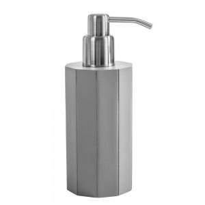 Dispenser Sapone da appoggio Cipi serie Feel in Resina Grigio Dosasapone