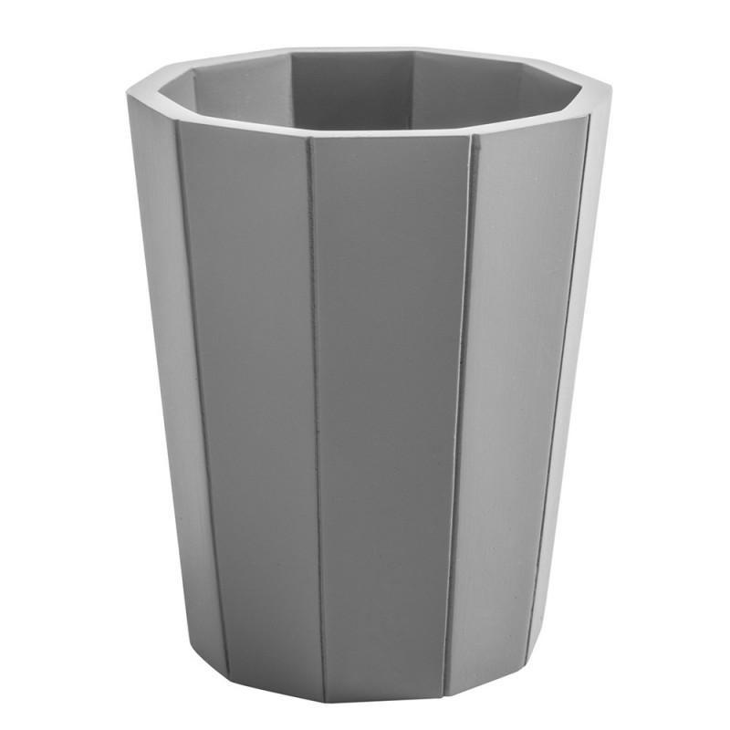 portaspazzolino a bicchiere grigio