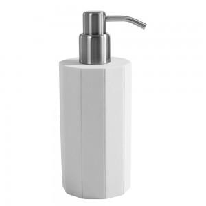 Dispenser Sapone da appoggio Cipi serie Feel in Resina Bianco