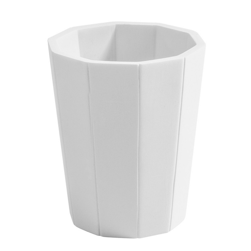 Portaspazzolino Bicchiere Bianco Cipi serie Feel in Resina