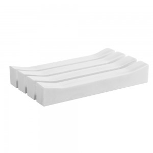 Portasapone Bagno da Appoggio Cipi Linea Feel in Resina Bianco