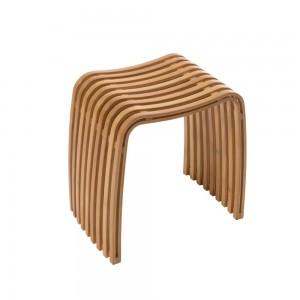 sgabello da bagno di design in legno