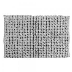 tappeto da bagno grigio intrecciato
