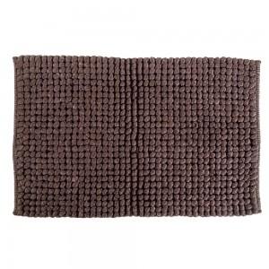 tappeto da bagno intrecciato marrone