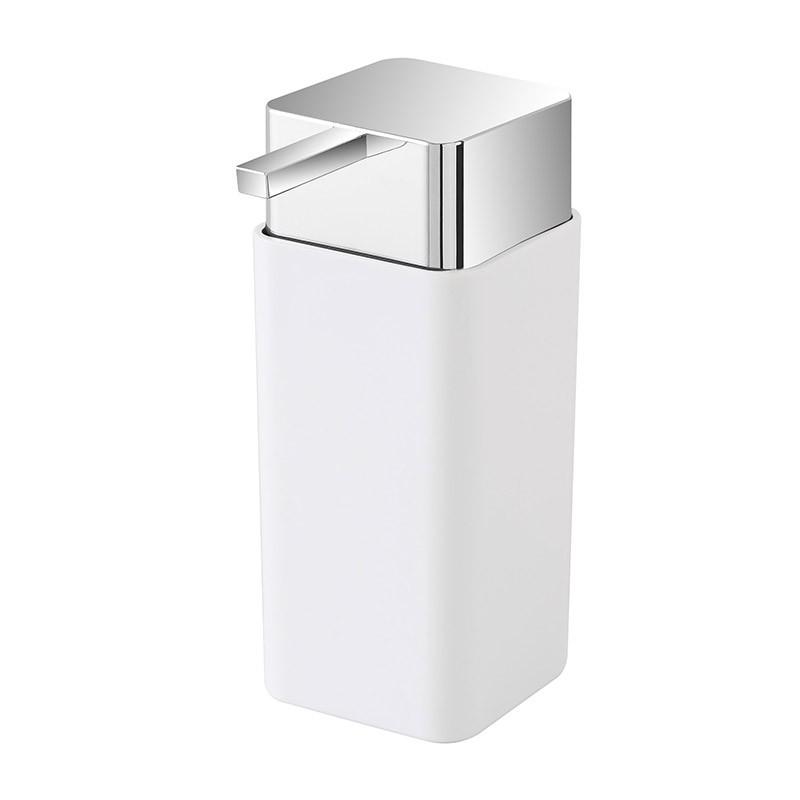 Dispenser Sapone Liquido in Plastica Bianco da Appoggio
