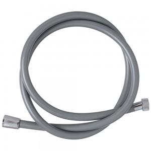 Laccio doccia flessibile silver in PVC 150 cm con dado in ottone