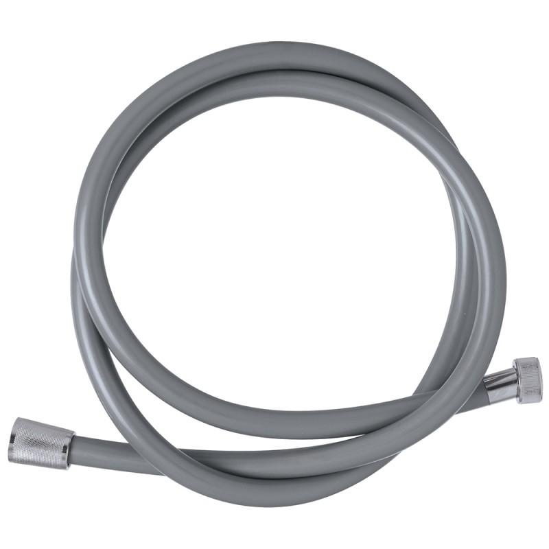 Flessibile Doccia 150 cm in Pvc Grigio con sistema Antitorsione