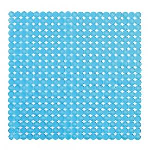 Tappeto antiscivolo mosaico per doccia azzurro 54x54 in pvc