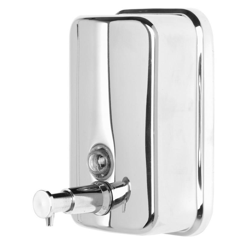 Dispenser Sapone da Muro in Acciaio 500 ml Linea Facile