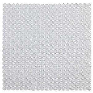 Tappeto Antiscivolo Doccia Bianco Trasparente 54 x 54 in PVC Mosaico
