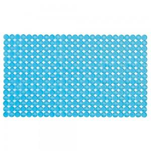 Tappeto doccia azzurro 70 x 40 cm in plastica con gommini antiscivolo