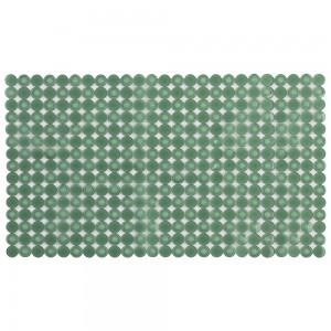 Tappetto antiscivolo per vasca e doccia 70x40 verde in pvc a mosaico