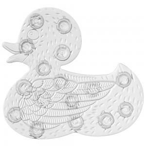 5 Formine Antiscivolo per Doccia e Vasca Duck in PVC colore Bianco