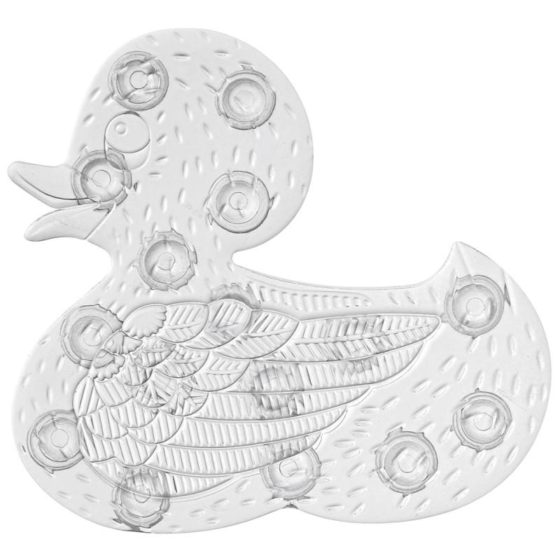 5 Formine Antiscivolo Doccia e Vasca Duck in PVC colore Bianco