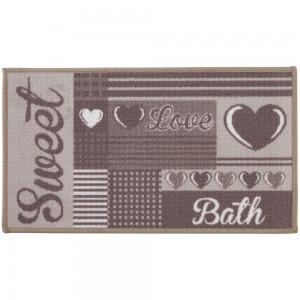 Tappeto per il Bagno in Nylon stampato lavabile impermeabile 50x80 cm