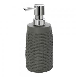 dispenser sapone grigio d'appoggio