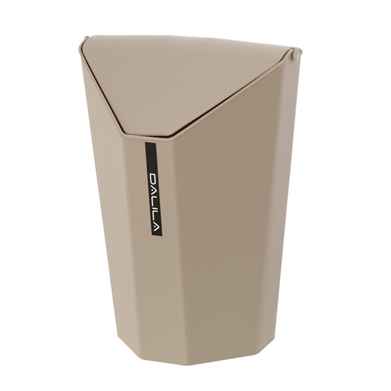 Pattumiera Plastica Tortora con coperchio Basculante capienza 6,5 lt