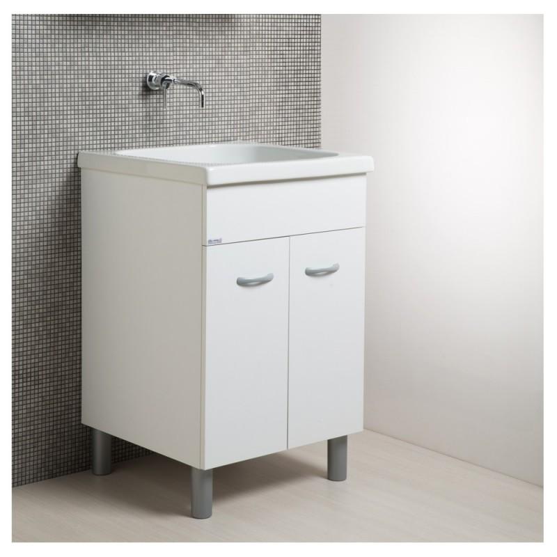 mobile lavatoio bianco in ceramica