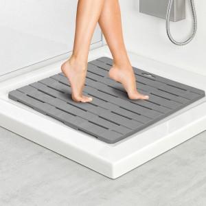Pedana doccia quadrata in plastica con gomma antiscivolo