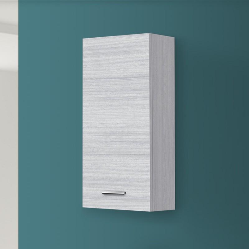 Pensile bagno moderno Grigio h. 70 cm  Anta Reversibile e ripiano interno