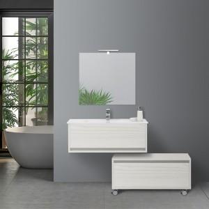 Mobile Bagno color pino bianco con cassettiera
