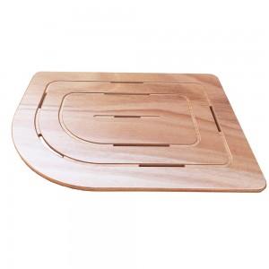 Pedana angolare in legno marino