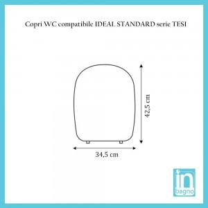 Coprivaso Ideal Standard Serie Tesi Compatibile Dedicato Bianco