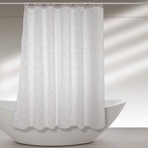 Tenda Doccia Lavabile In Poliestere 120 X 200h Cm Bianco a Fantasia