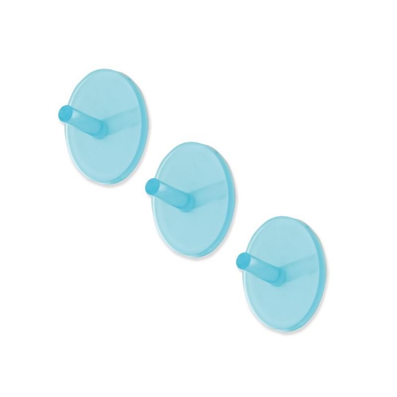 Set Tre Appendini Adesivi Azzurro