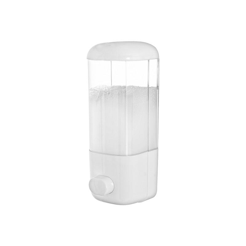 Dispenser Sapone Liquido a Muro 500ML in Plastica Bianco