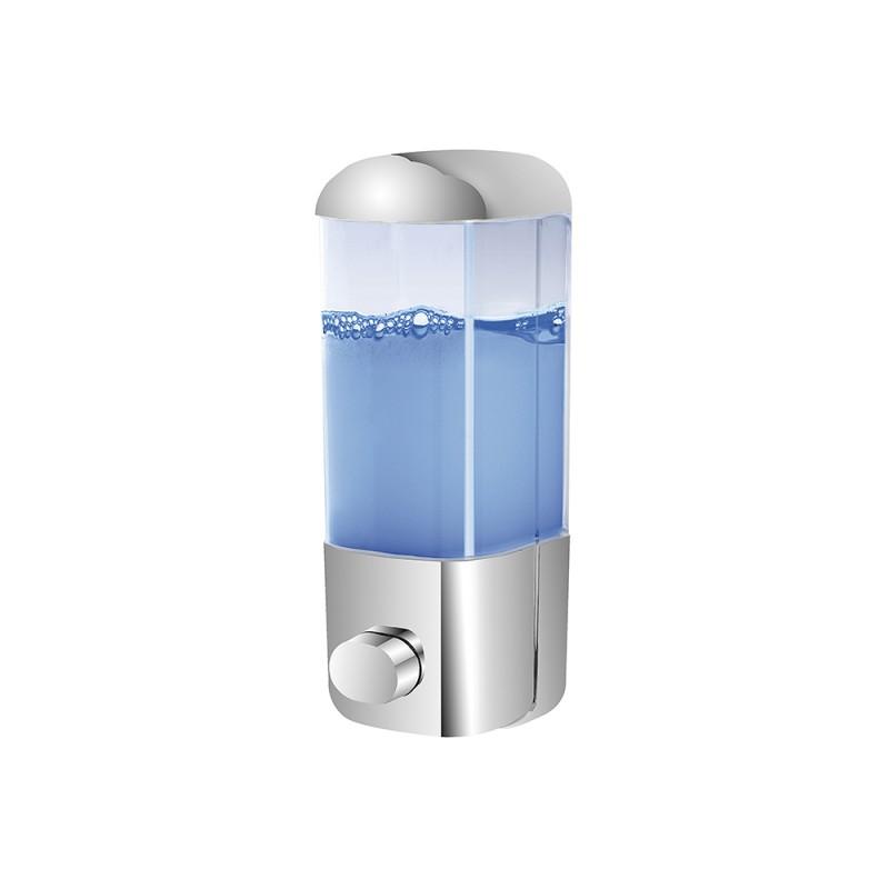 Dispenser Sapone Liquido a muro con inserti Cromo 500ML