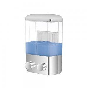 Dispenser Sapone doppio a muro Cromo 1000ML online per hotellerie