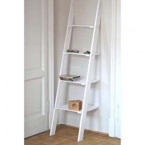 scala portaoggetti in legno da bagno