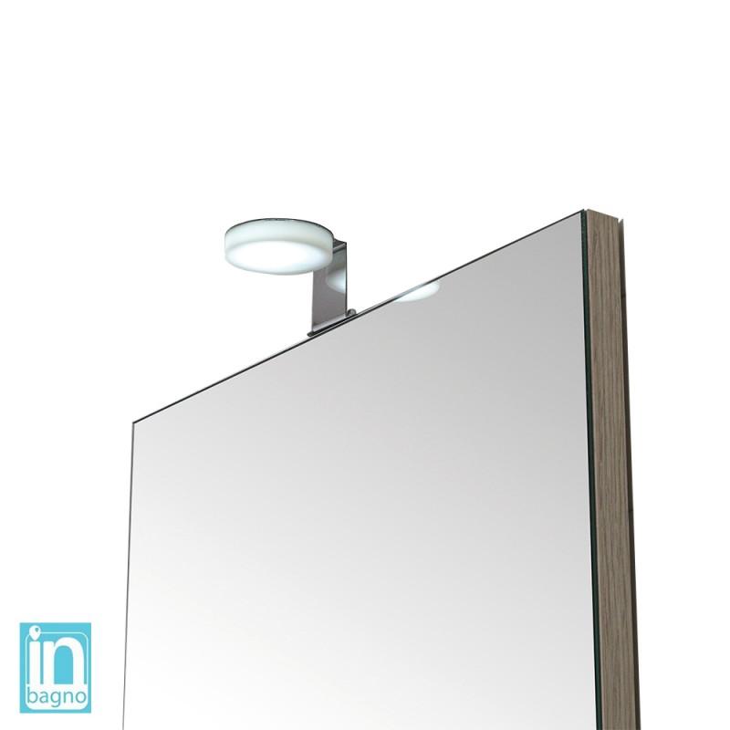 Lampada Led da Bagno Tonda Design Moderno 4 W con Doppia Installazione