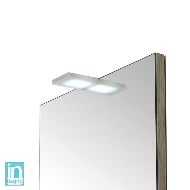 Lampada Led per Specchio a Filo o su Pannello 4 W in Acciaio