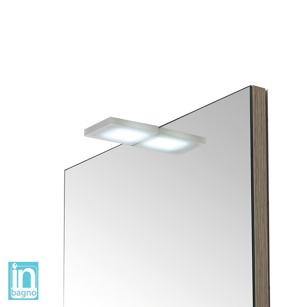 Lampada Sopra Specchio Bagno lampada led per specchio a filo o su pannello 4 w in acciaio