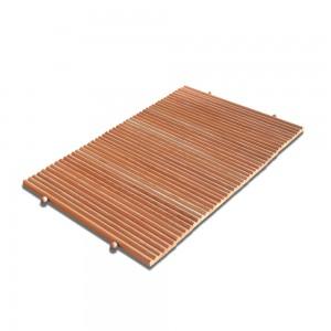 tappeto in legno di larice bagno