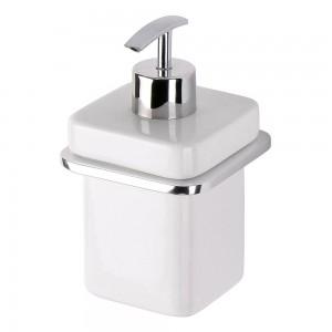 Dispenser Sapone Liquido a muro Alluminio e Ceramica Moderno