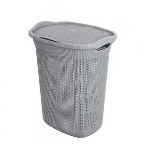 Porta biancheria in plastica Grigio capienza 65 Lt per la Lavanderia
