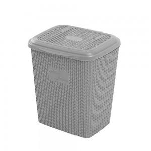 Pattumiera plastica grigio capienza 8 lt per arredo bagno e lavanderia