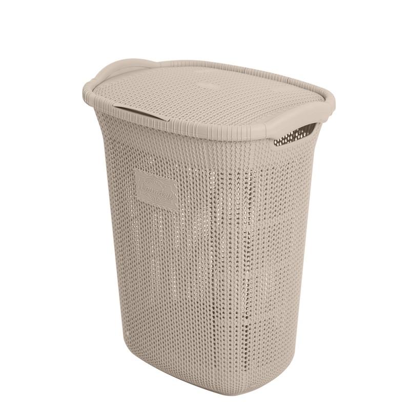 Porta Biancheria Tortora in Plastica 65 litri ideale per la Lavanderia
