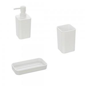 accessori bagno appoggio bianco