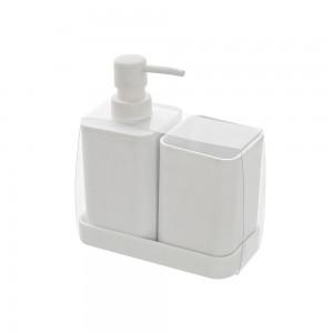 set accessori bagno bianco