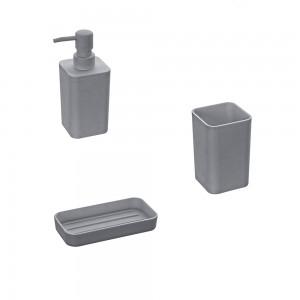set accessori bagno grigio