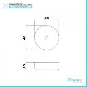 lavandino tondo diametro 40 cm bagno moderno